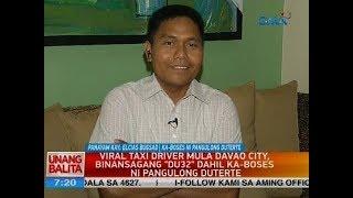Viral taxi driver mula Davao City, binansagang