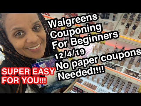 Walgreens Couponing 12/4/19 | FOR BEGINNERS!!! No Paper Coupons Needed
