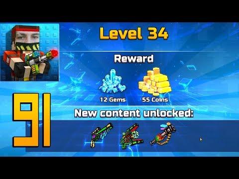 Pixel Gun 3D - Gameplay Walkthrough Part 91 - Level 34