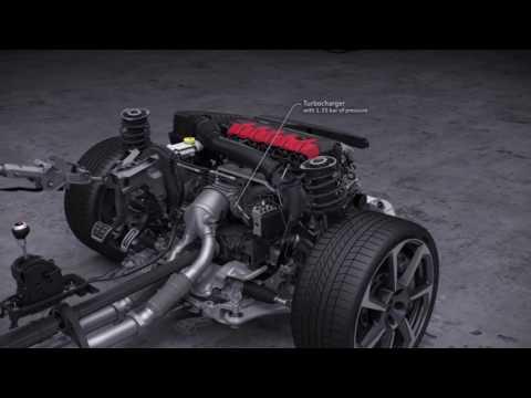 2016 Audi TT RS powertrain animation