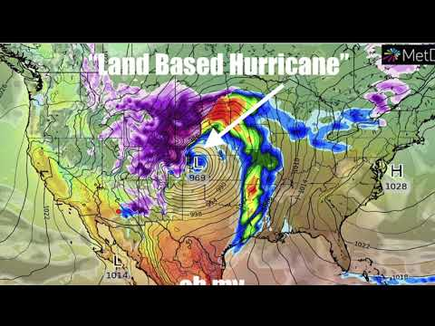 """Leading edge of Giant """"Land Based Hurricane"""" producing Blue and Red flashes in Dallas (видео)"""