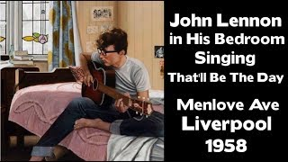 John Lennon Singing That'll be the day-  Mendips - 1958