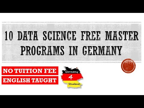 MSc Data Science in Germany | 10 Data Science Courses in Germany 2020| English taught & Tuition Free