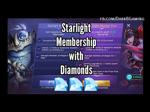 Buy starlight membership with Diamonds | Mobile Legends