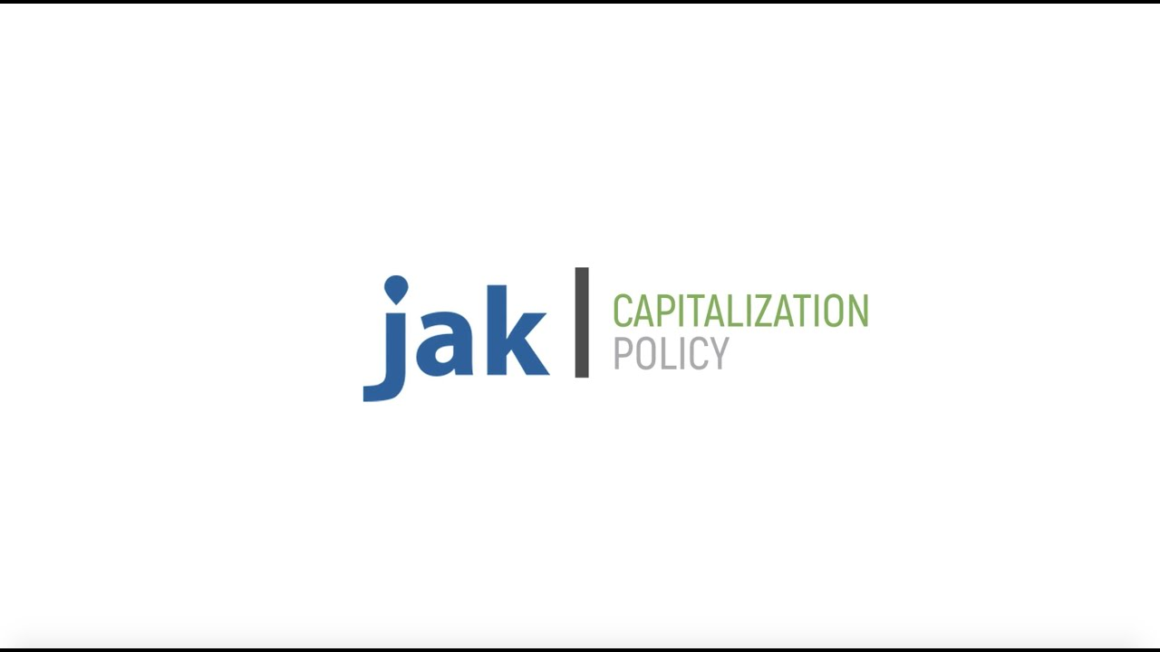 FAQ: What is capitalization policy?