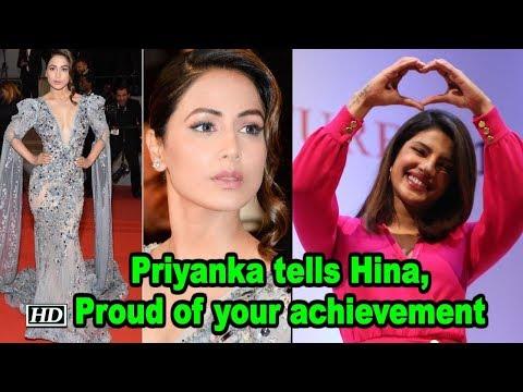 Priyanka replies Hina: Proud of your achievement