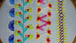 Easy Hand Embroidery Border Line Stitch,crazy Quilting Embroidery,New Borderline Embroidery