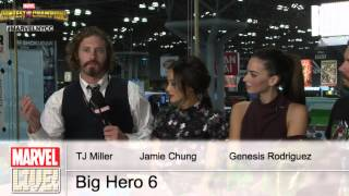 The Cast of Disney's Big Hero 6 stop by Marvel LIVE! at New York Comic Con 2014 Part One