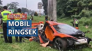 Supercar McLaren Alami Kecelakaan di Ruas Tol Jagorawi, Polisi: Akibat Kurang Hati-hati Berkendara