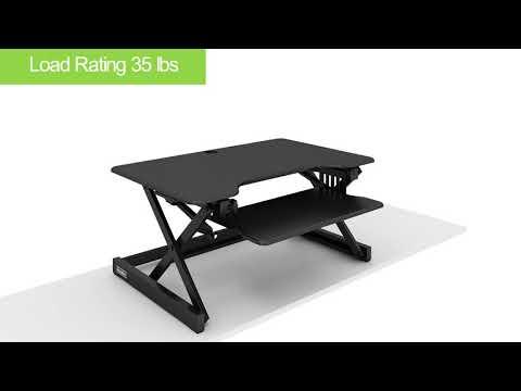 Rocelco EADR2-T – Sit Stand Desk Riser