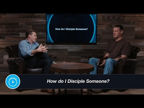 How do I disciple someone?