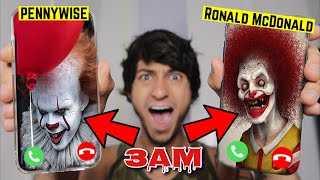 DO NOT FACETIME RONALD MCDONALD AND PENNYWISE AT THE SAME TIME! 3AM!! *OMG HE CAME TO MY HOUSE*