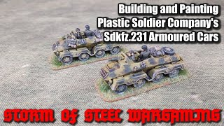 Building and Painting Plastic Soldier Company's Sdkfz.231 Armoured Cars   Storm of Steel Wargaming
