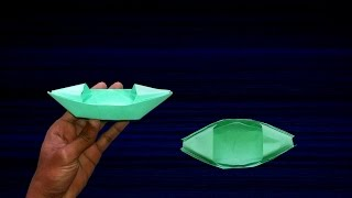 How To Make a Paper Boat That Floats - Origami | Paper Boat Making Instructions
