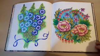 Finished Blomster Mandala Twilight Garden Coloring Book