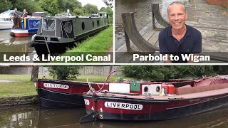 Cruising the Leeds & Liverpool Canal. Parbold to Wigan Pier by Narrowboat.
