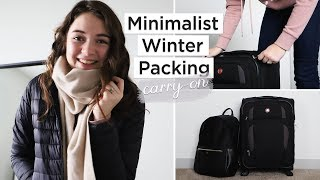 MINIMALIST WINTER PACKING | 10 days in a carry-on