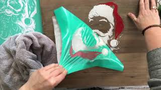 DIY Wood Christmas Signs - Vintage Santa Sign