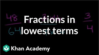Fractions in lowest terms