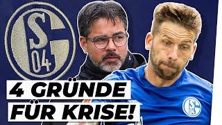 Schalke 04 steckt in der Krise. 11 Bundesliga-Spiele in Folge kein Sieg, so sind die Europa-Ambitionen zerstört worden. Wir blicken heute auf die Gründe dieser Schalke-Krise. David Wagner spielt eine wichtige Rolle, der seit Wochen sehr unglücklich agiert. Zudem hat sich der Spielstil von Schalke 04 völlig verändert. Auch die Verletzungen der wichtigen Leistungsträger von Schalke könnten eine wichtige Rolle in diesem Fall spielen. Und: Gibt es jetzt wirklich einen Ausweg, quasi ein Licht am Ende des Tunnels? Über Schalke 04 möchte ich mit euch diskutieren. Lasst gerne eure Meinung in den Kommentaren da!  #Schalke #Bundesliga #Wagner ---- WICHTIG: Die Trikots, die in den Videos getragen werden, spiegeln nicht meine Sympathien wider. Es dient lediglich dazu, das aktuelle Thema zu untermalen. ----- Du willst ein Autogramm? Dann schicke mir einen Brief inkl. vorfrankierten Rückumschlag an folgende Adresse: Manu Thiele Postfach 66 21 41 81218 München ---- YEAH! Wir gehören auch zu #funk. Schaut da mal rein: YouTube: https://www.youtube.com/funkofficial funk WebApp: https://go.funk.net Facebook: https://facebook.com/funk
