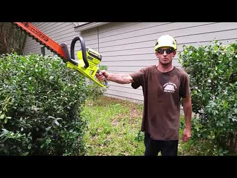 Ryobi 20 inch 40v hedge Trimmer review