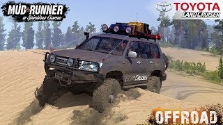 Spintires: MudRunner - TOYOTA LAND CRUISER 105 GX on Sand and Off-road