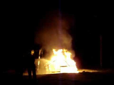 Speeltoestel in Brand