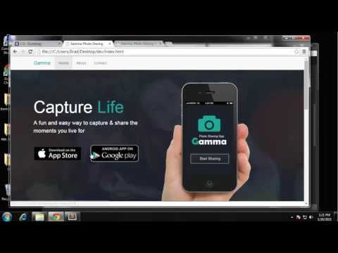 Build a Photo Sharing Website with Bootstrap Part - 3