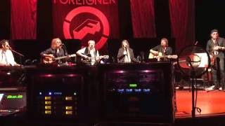 Foreigner Acoustic When It Comes to Love Westbury NY 2/11/16