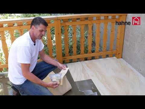 Sandstein Terrassen Balkon Bodenbelag Verlegung mit Hahne-System Renovierung