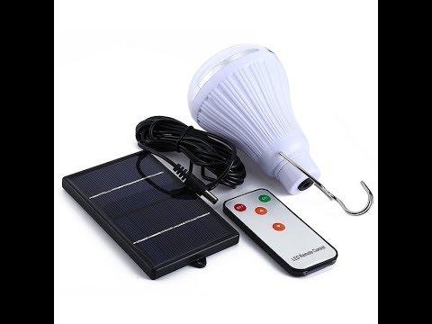 LCD фонарь-светильник с солнечной батареей