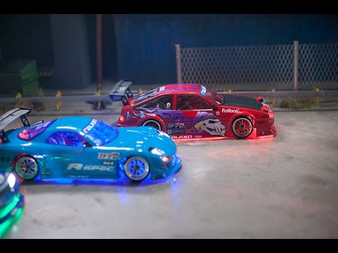 Dry Ice And LEDs Make Drifting RC Cars Look Even More Realistic
