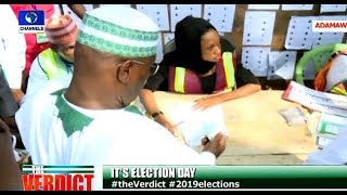 Atiku, Wife Cast Their Votes In Adamawa
