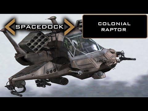 Koloniální Raptor z Battlestar Galactica - Spacedock