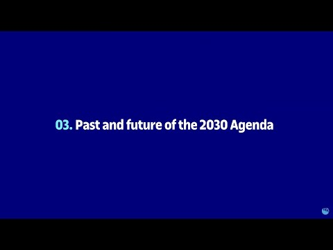 Past and future of the 2030 Agenda