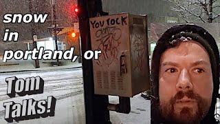 Snow in Portland, Oregon March 2020