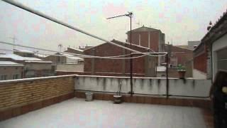 preview picture of video 'Neu a Igualada 4 Febrer 2015, Nieve en Igualada 4 Febrero 2015 2'