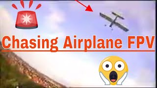 Chasing airplane in FPV