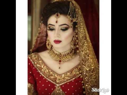 Pakistani Indian bridal makeup dresses and jewelry baraat dulhan 2017