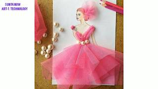 Beautiful Dress Design Sketches With New Creation  Glamorous Fashion Sketches And Illustrations