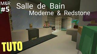 TUTO Minecraft Maison Moderne U0026 Redstone Part.5 : Salle De Bain PS4 (PS3