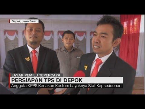 Unik! TPS di Depok Disulap Menjadi Istana Negara
