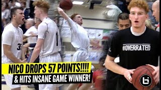 Nico Mannion Drops INSANE 57 Points & Hits CRAZY GAME WINNER On Senior Night!!!! BEST PG!?