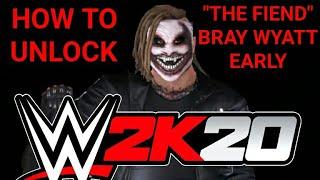 "HOW TO UNLOCK ""THE FIEND"" BRAY WYATT EARLY ON WWE 2K20 + 2K SHOWCASE GLITCH"