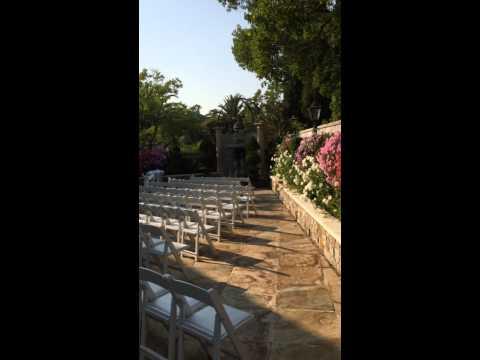 Beautiful Garden Wedding Ceremony Acoustic Guitar