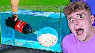He tried Mentos and Coke Underwater.. (You Won't Believe This)