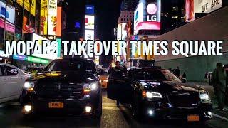Mopars Doing Burnouts in New York City : Hellcat & SRT madness