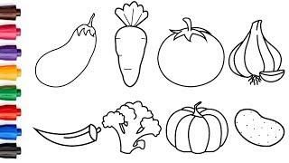 Descargar Mp3 De How To Draw Vegetables Easy Gratis Buentema Org