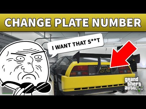 GTA 5 Change License Plate | 100% WORKING GTA 5 UNIQUE LICENSE PLATES (GTA Online)