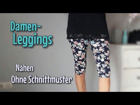 Damenleggings - Nähanleitung OHNE Schnittmuster - Anfänger - Nähtinchen